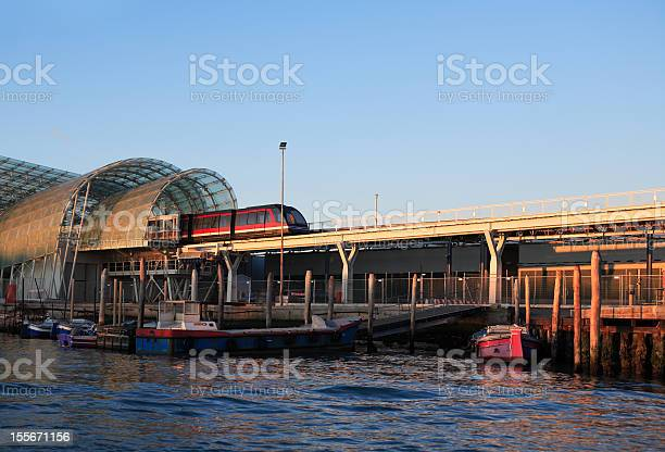 Train Between Sea And Sky Stock Photo - Download Image Now