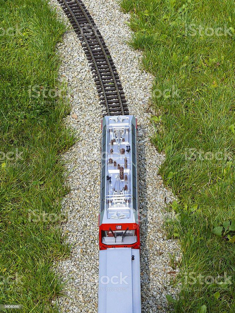 Train - bird's eye view royalty-free stock photo