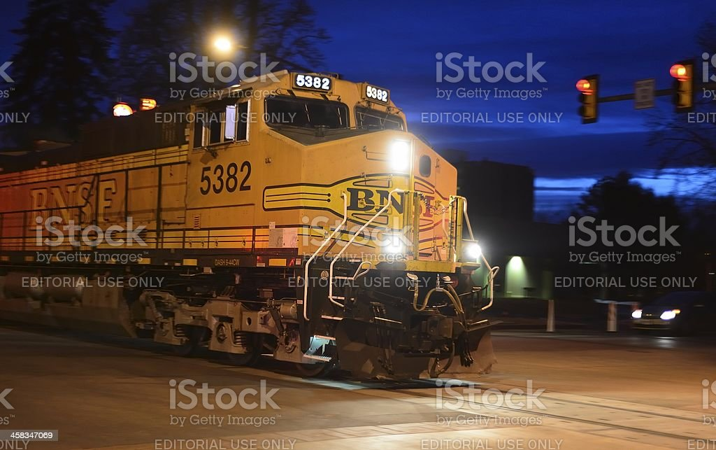 BNSF Train, Burlington Northern Santa Fe stock photo
