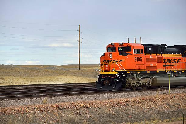 BNSF Train, Burlington Northern Santa Fe stock photo