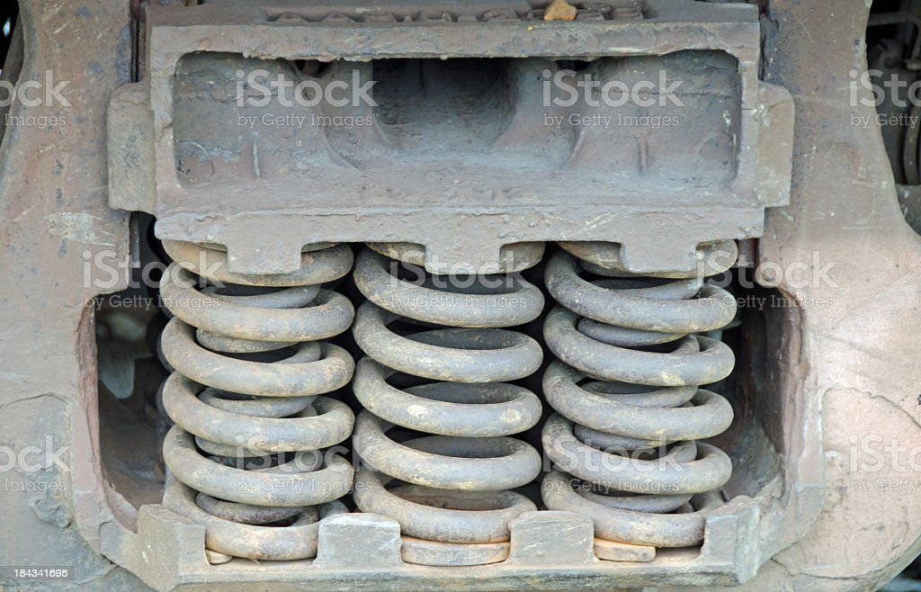 Train Car Suspension Springs stock photo