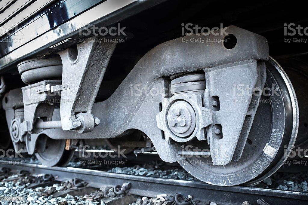 Train Car Undercarriage stock photo