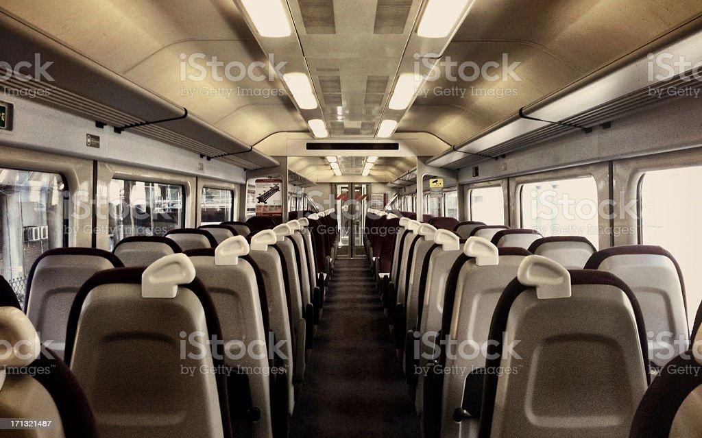 Train carriage interior stock photo