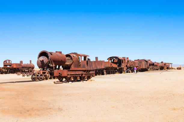 火車公墓,玻利維亞 - 阿爾蒂普拉諾山脈 個照片及圖片檔