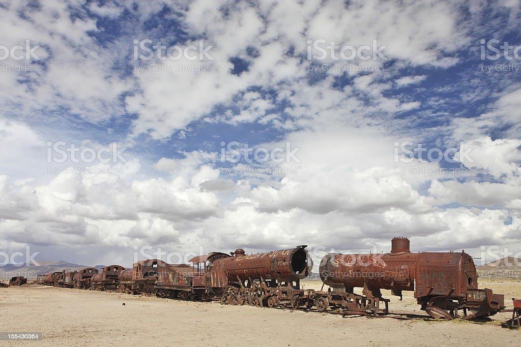Train cemetery royalty-free stock photo