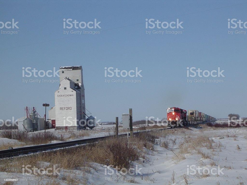 Train coming royalty-free stock photo