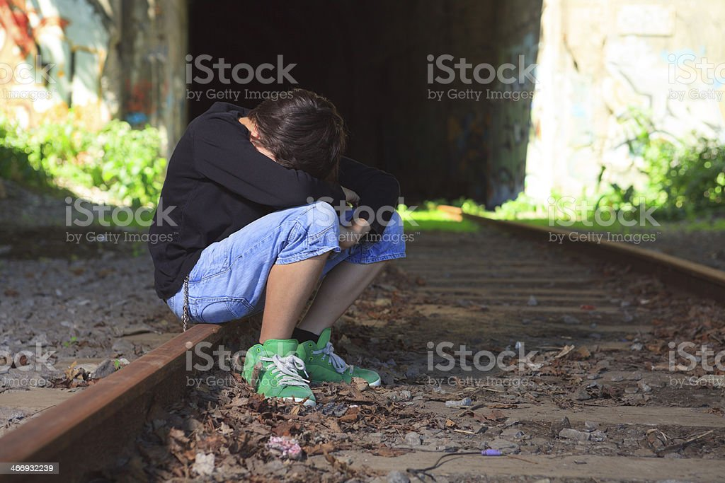 Train - Cry on Track royalty-free stock photo