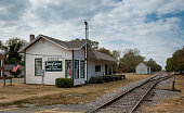 Plains, Georgia, USA - November 13, 2016: The Plains Train Depot on Street in Plains
