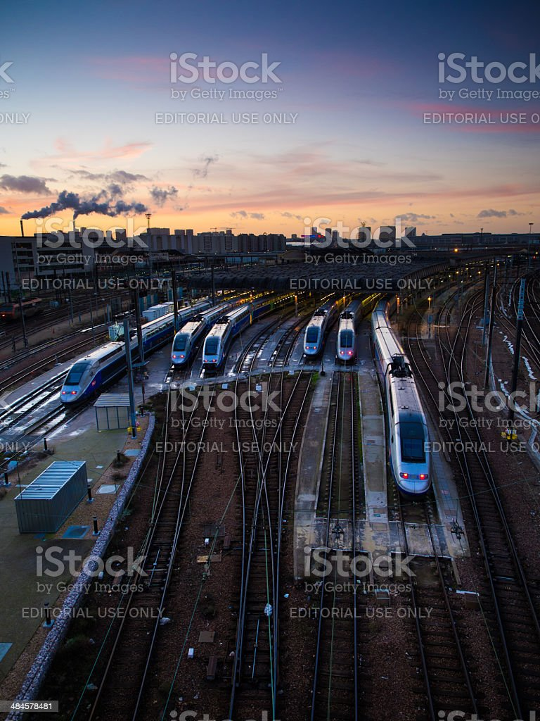 Train depot 'Technicentre Sub-est Paris' stock photo