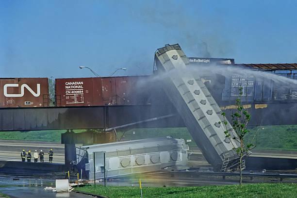 train derailment, may 22 1995 - derail bildbanksfoton och bilder