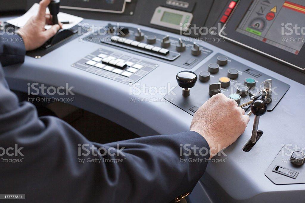 Train driver stock photo