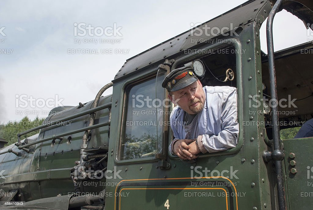 Train Driver royalty-free stock photo