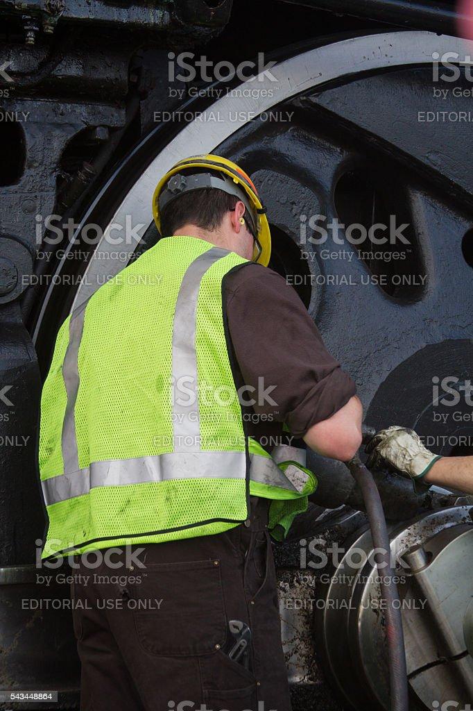 Train Engineer Working stock photo