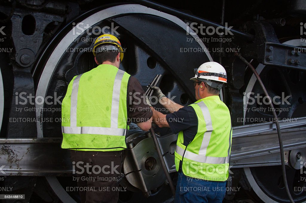 Train Engineers stock photo