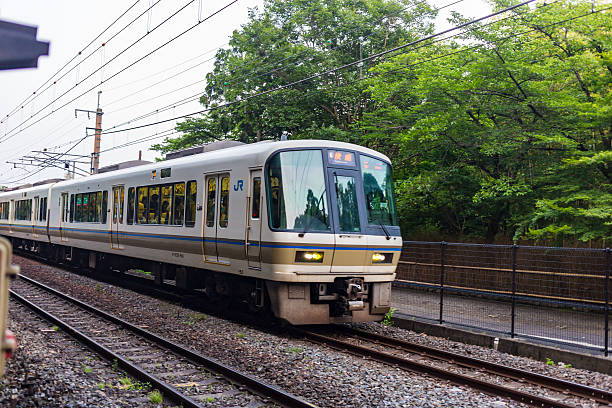 Train for Commuter Transport in Kyoto Japan stock photo