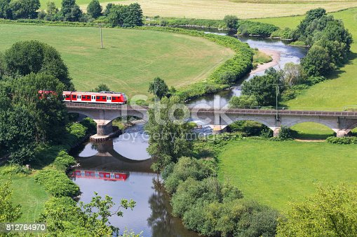 train from above in the countryside