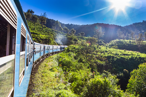 Train from Ella to Kandy . Sri Lanka.