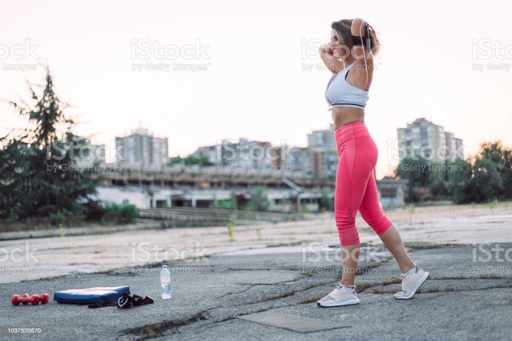 Train hard and lead a healthy life style stock photo