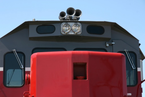 Train Horns Lights Engine And Windows Stock Photo - Download Image Now