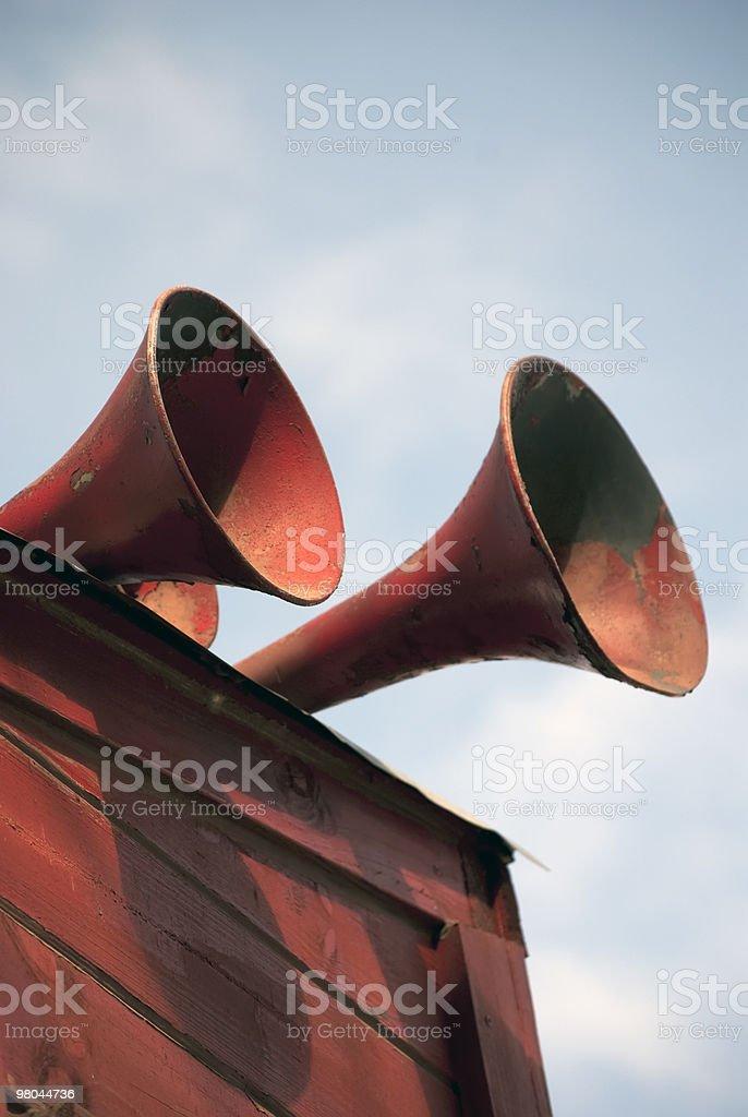 Treno Horns foto stock royalty-free