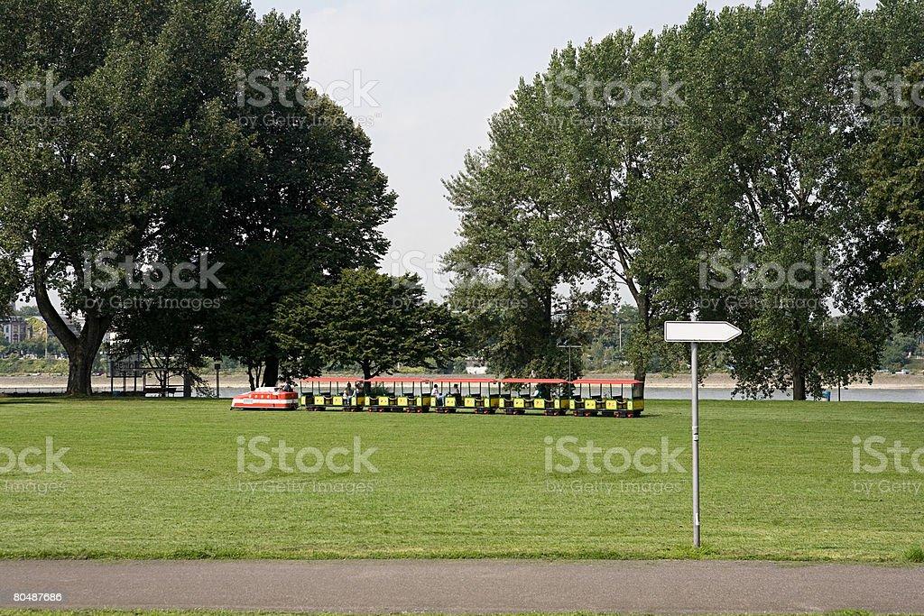 A train in a park 免版稅 stock photo