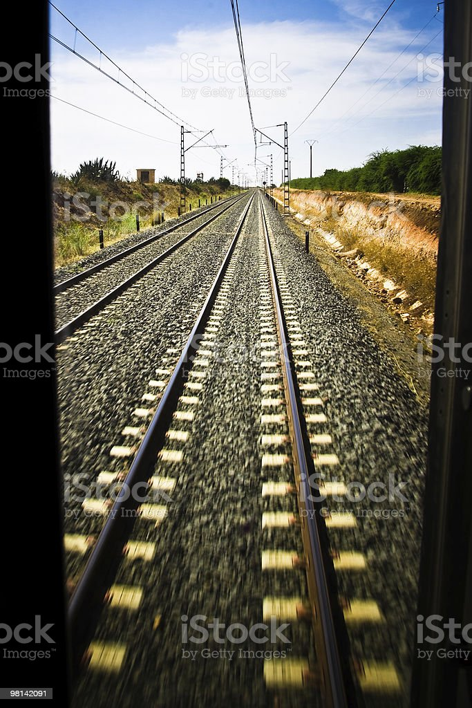 Train in motion royalty-free stock photo