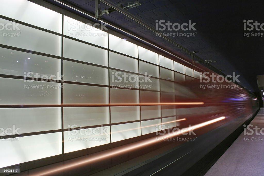 Train in Potsdamer Platz royalty-free stock photo
