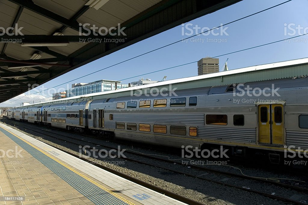 Train in the station royalty-free stock photo
