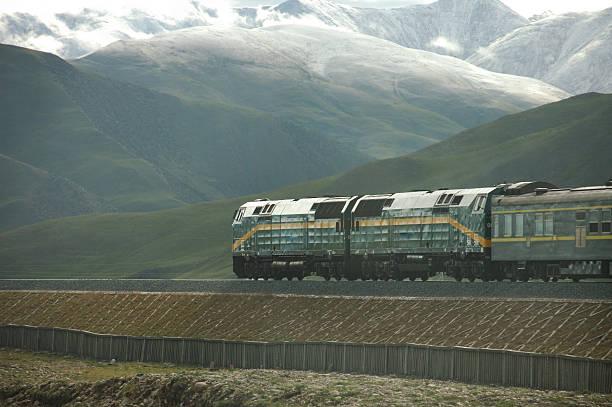Train in Tibet  Plateau