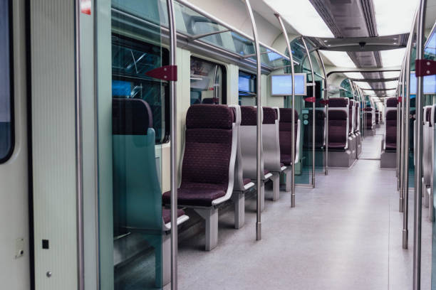 KLIA train interior from Kuala Lumpur, Malaysia. KLIA train interior from Kuala Lumpur, Malaysia. kuala lumpur airport stock pictures, royalty-free photos & images