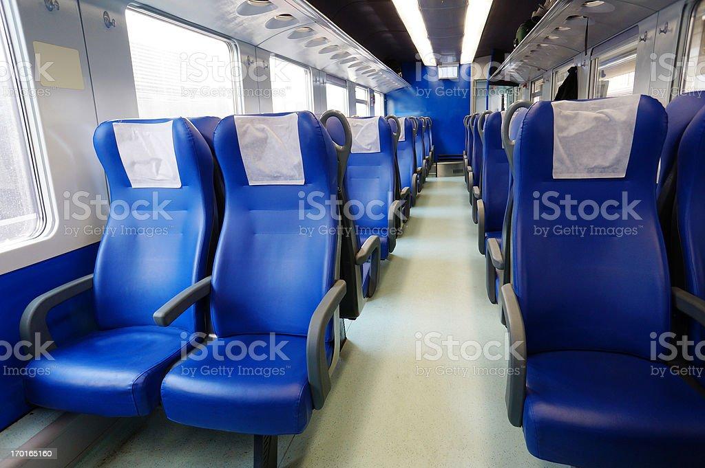 Train Interior royalty-free stock photo