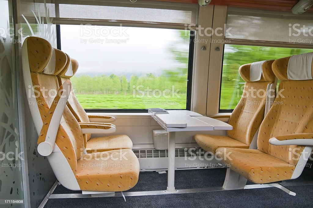 Train Interior stock photo