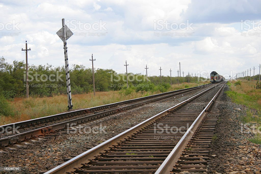 Train is coming royalty-free stock photo