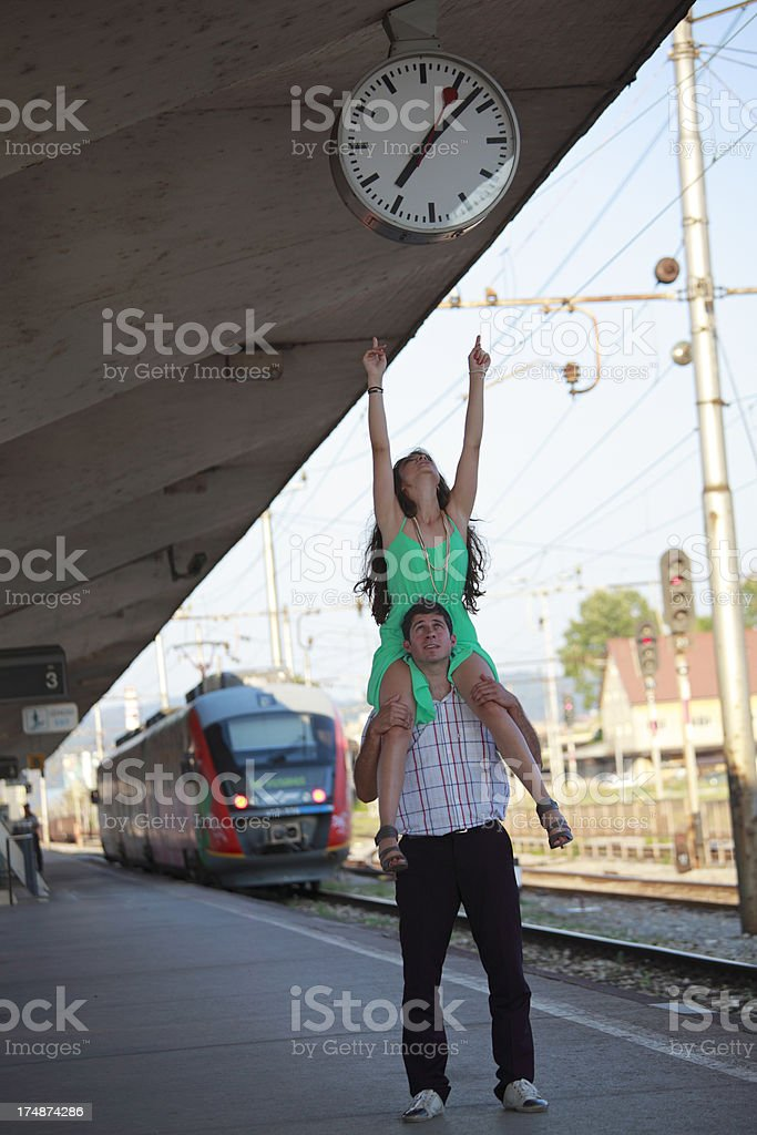 Train is late! royalty-free stock photo