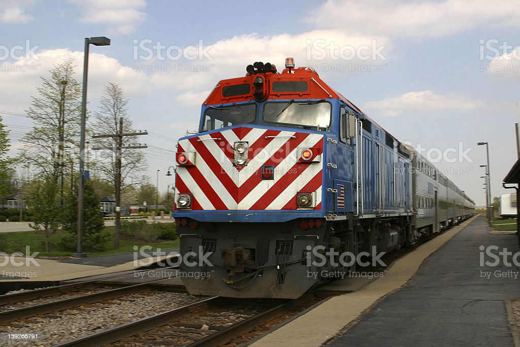 Train Leaving Station royalty-free stock photo