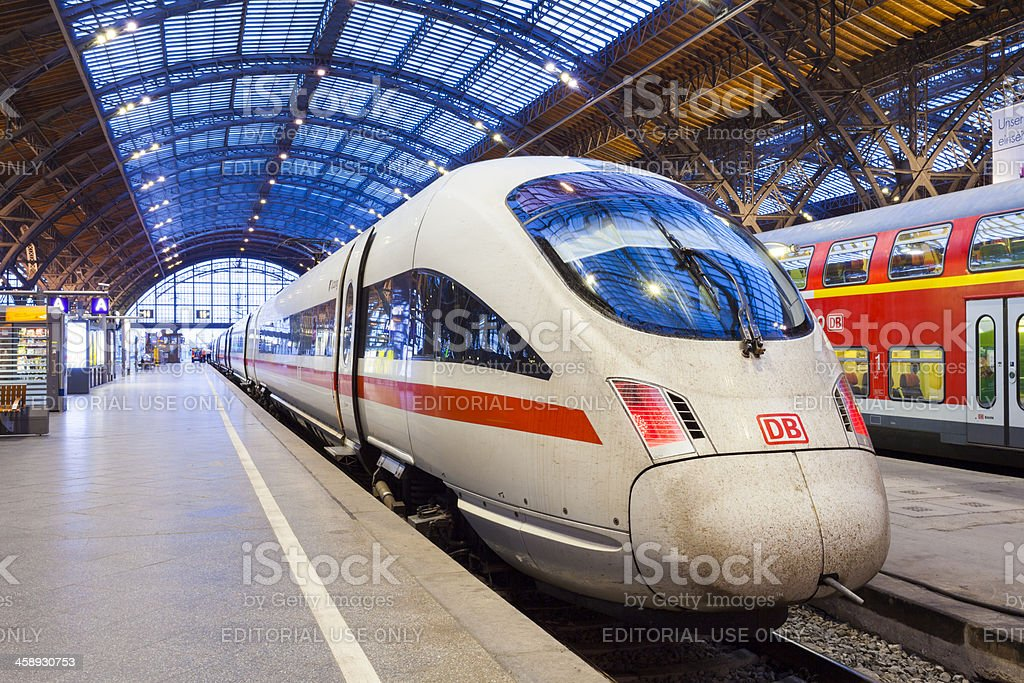 ICE train, Leipzig, Germany stock photo