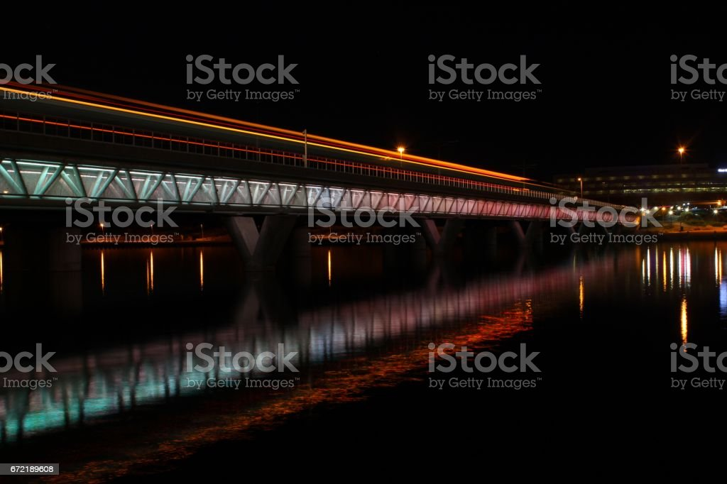 Train Lights in Tempe stock photo