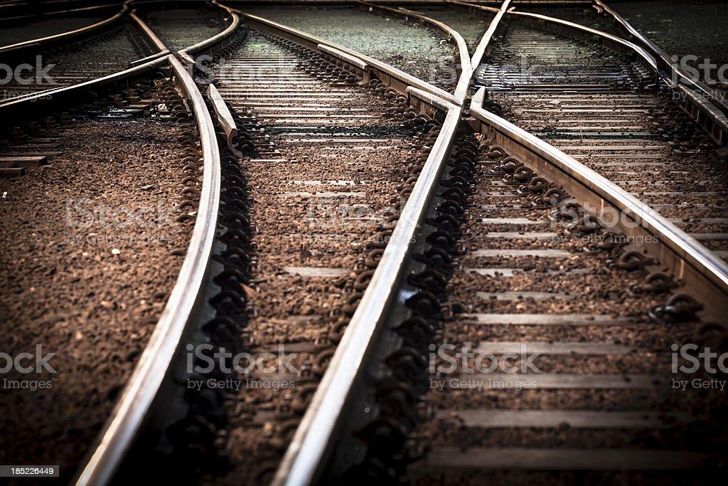 train line crossing royalty-free stock photo