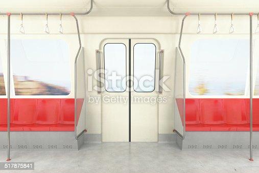 Train / metro / bus on the move.