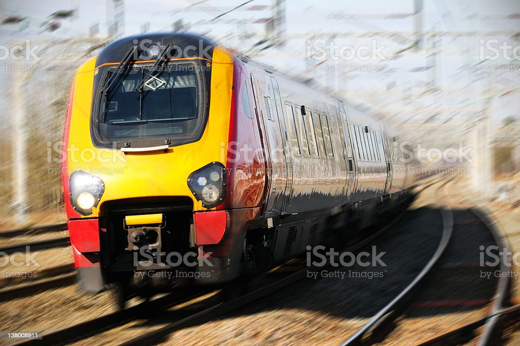 Train Moving At Speed stock photo