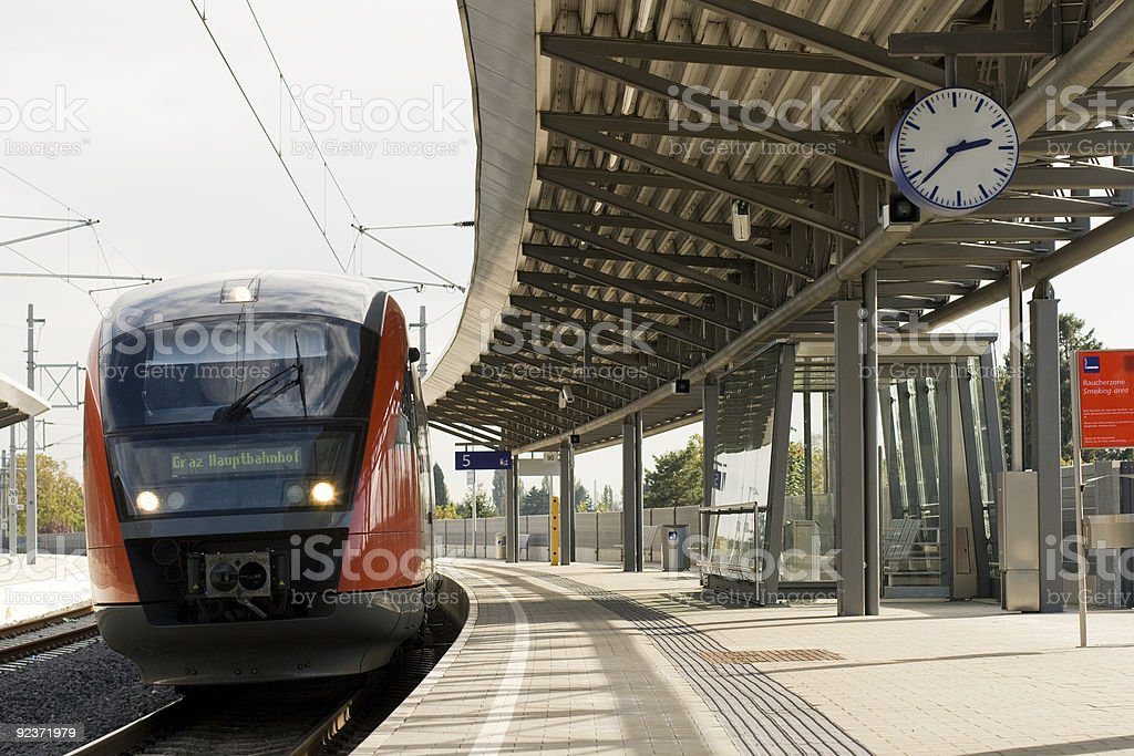 Train On Time royalty-free stock photo