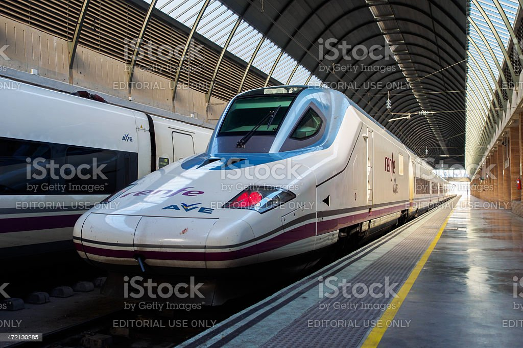 AVE Train stock photo