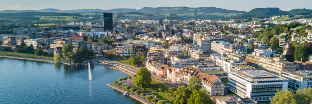 Zug Aerial photograph of Zug zug stock pictures, royalty-free photos & images