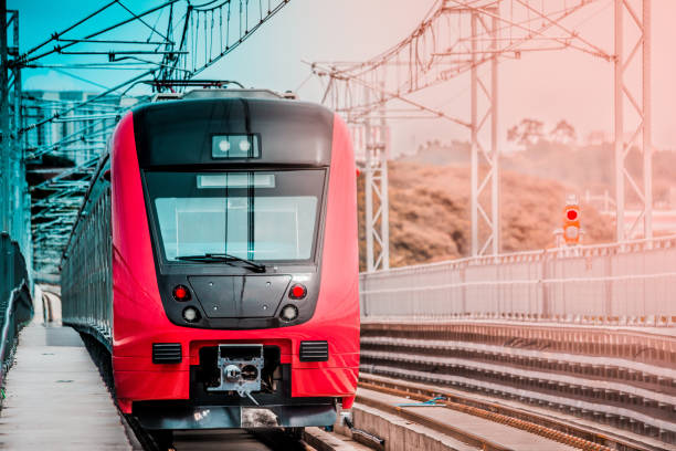 Train Train, Guarulhos, SP - Brazil commercial land vehicle stock pictures, royalty-free photos & images
