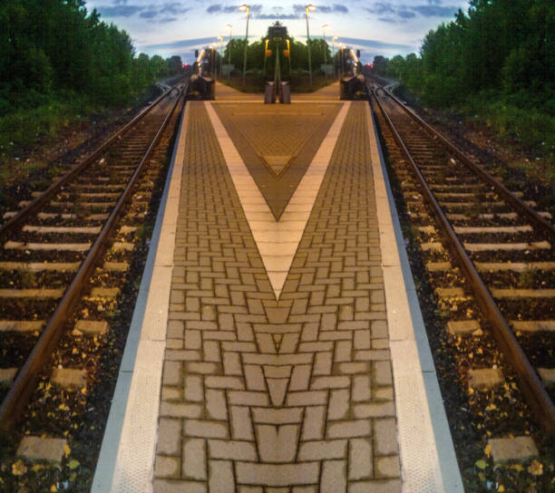 Tren demiryolu arka plan ünitesi izole stok fotoğrafı