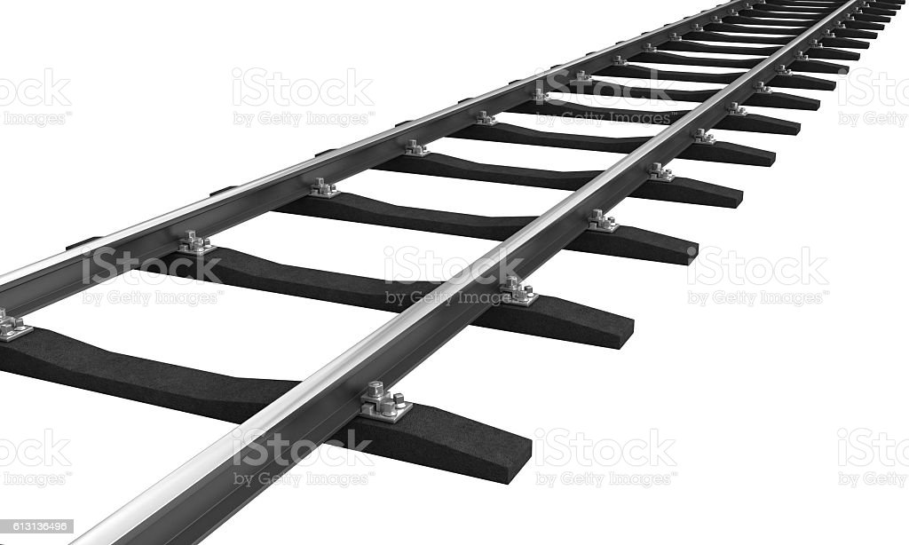 Train rail stock photo