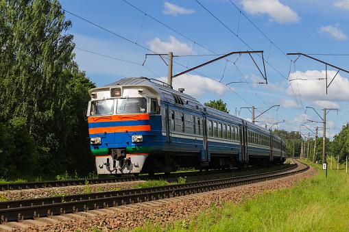 Train, rail transport, locomotive, passengers
