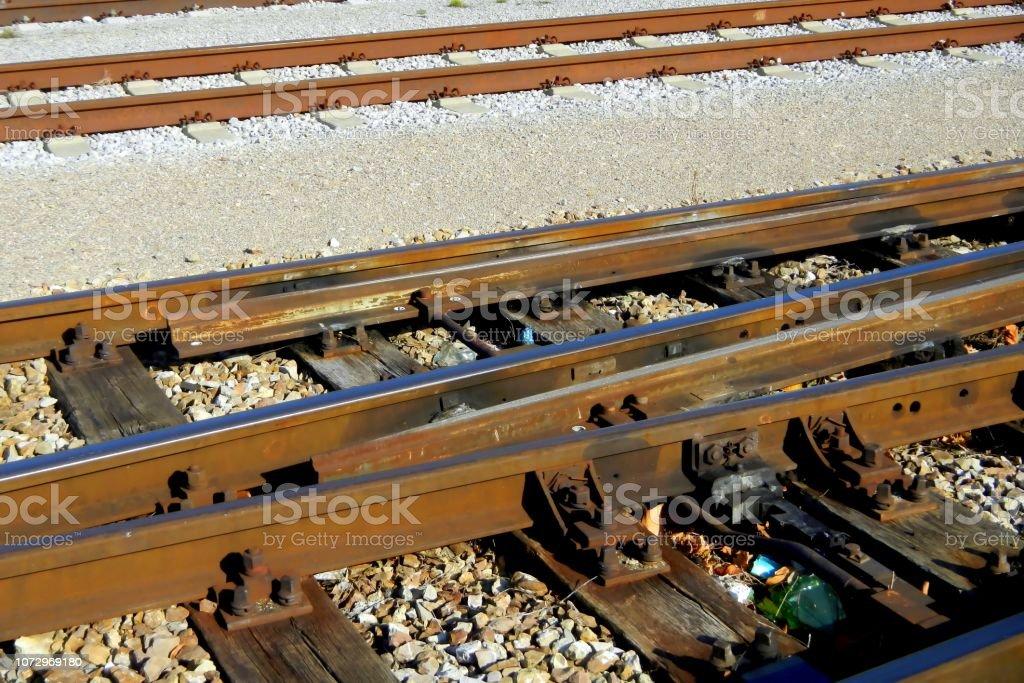 Zug, Bahn, Detail, alten Schienen – Foto