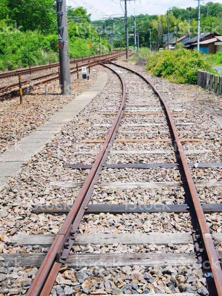 Train railway royalty-free stock photo