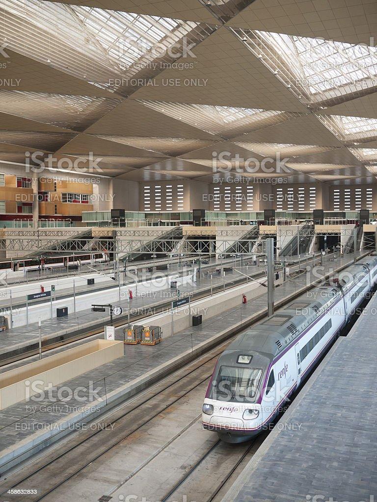 Train ready to depart stock photo